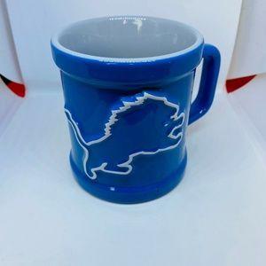 🏉NFL Detroit Lions Coffee Mug Blue White 10 oz